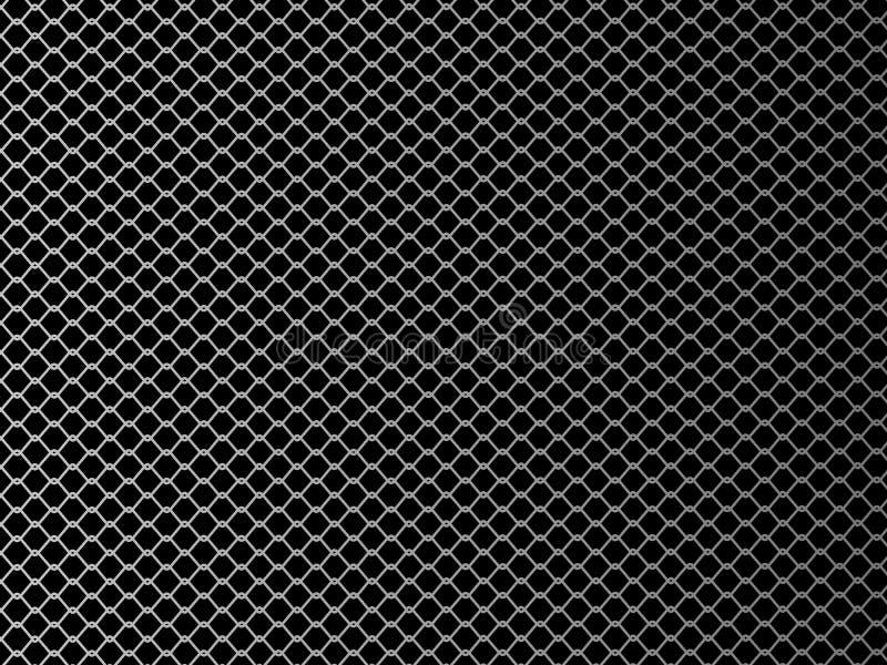Rete metallica Illustrazione di vettore su fondo nero illustrazione vettoriale