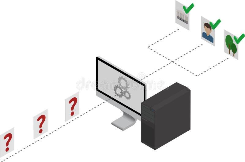 Rete neurale dell'avvolgimento immagini stock