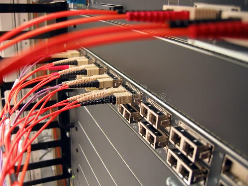 Rete ottica della fibra fotografia stock