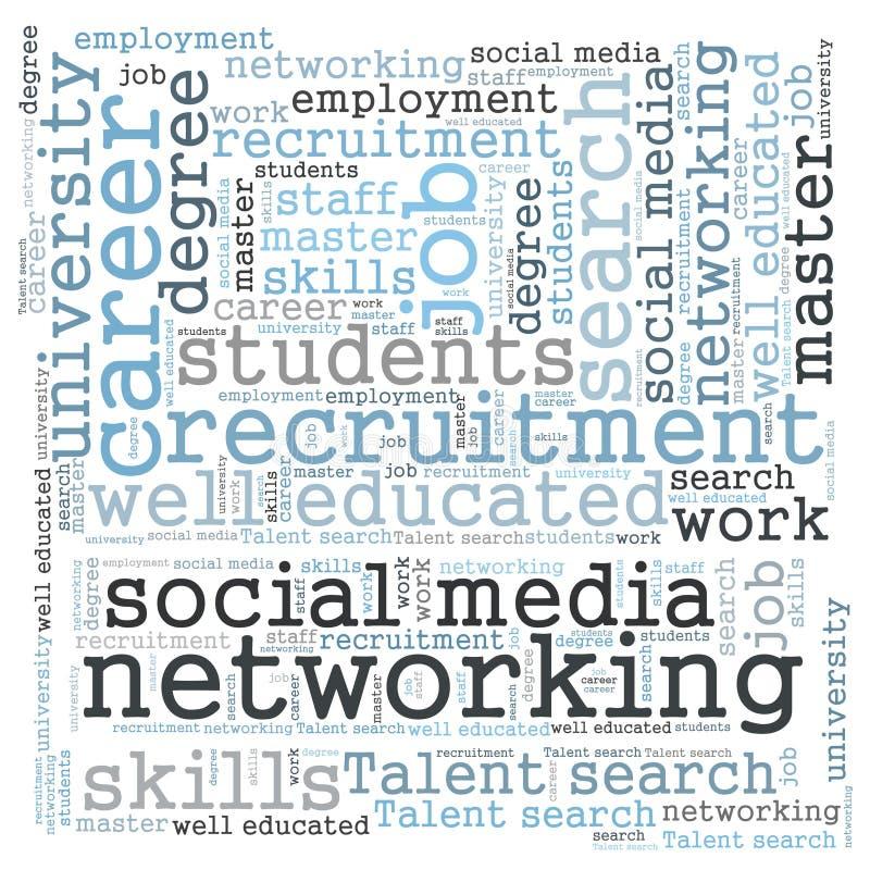 Rete sociale di media illustrazione di stock