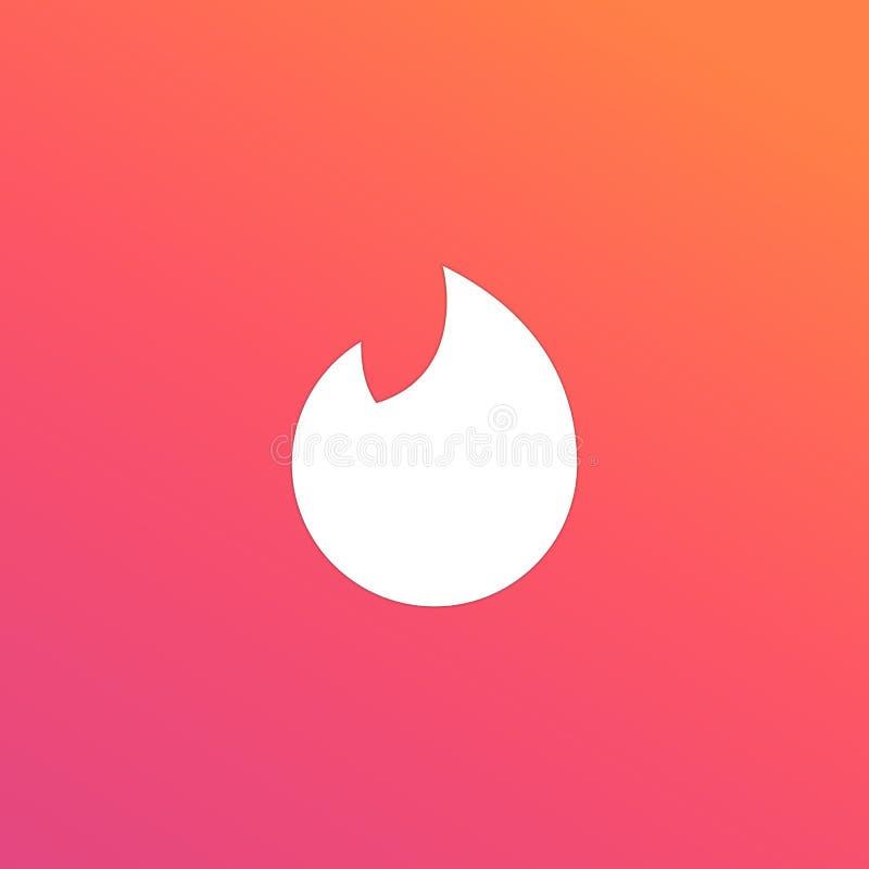 Rete sociale popolare dell'icona per datare illustrazione di stock