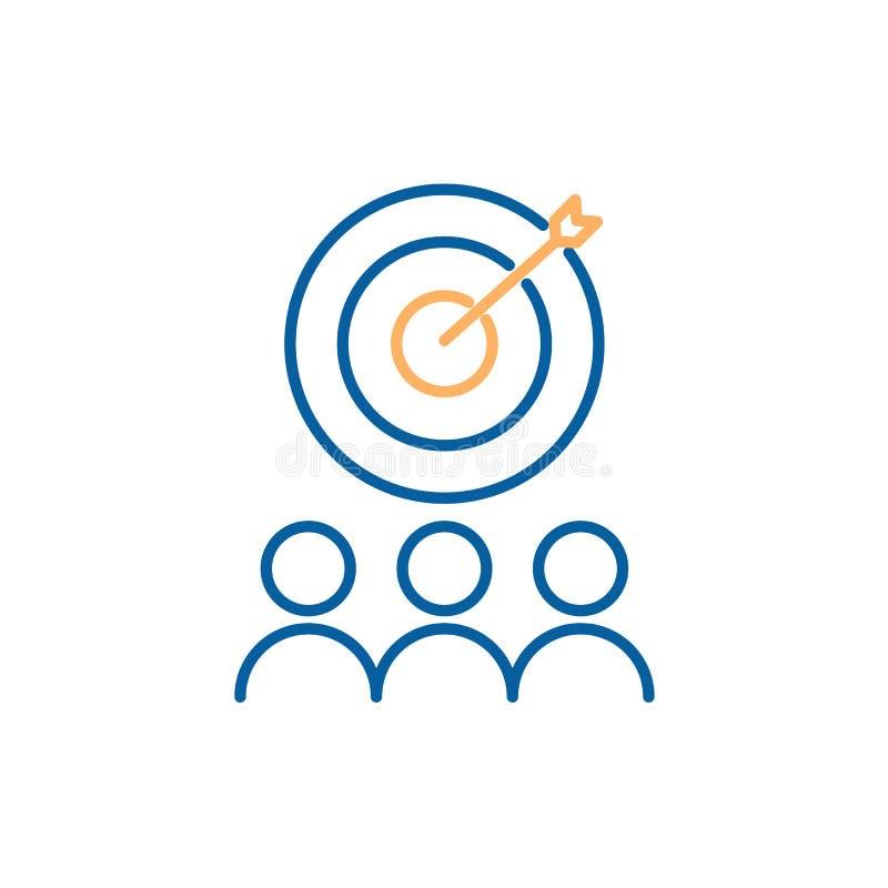 Retenção do cliente com projeto do ímã e dos povos Ilustração do ícone do vetor Mercado de entrada de Digitas ilustração stock