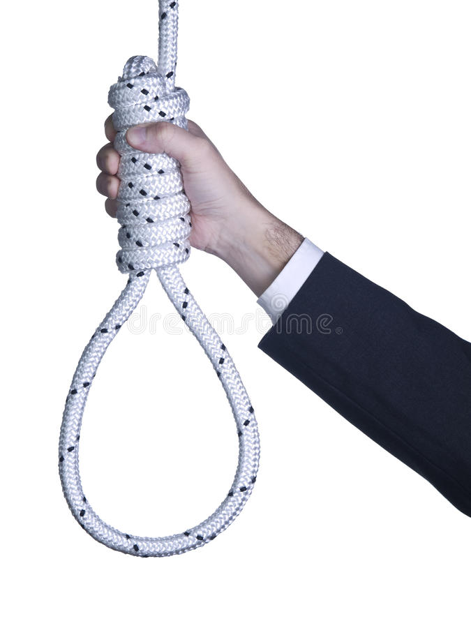 Retenir le noeud coulant photographie stock