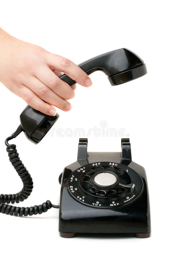 Retenir le téléphone photo libre de droits
