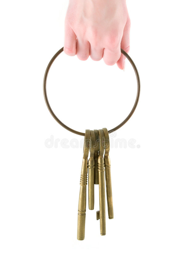 Retenir les clés photos stock