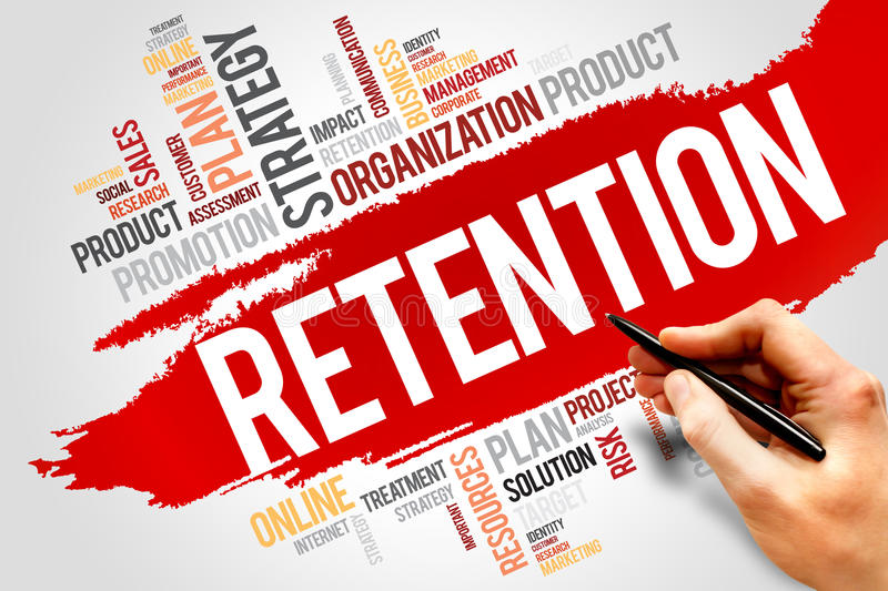Retention. Word cloud, business concept royalty free stock photos