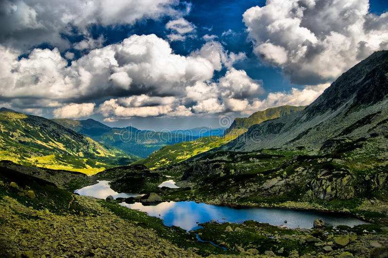 Retezat National Park-HDR stock photo