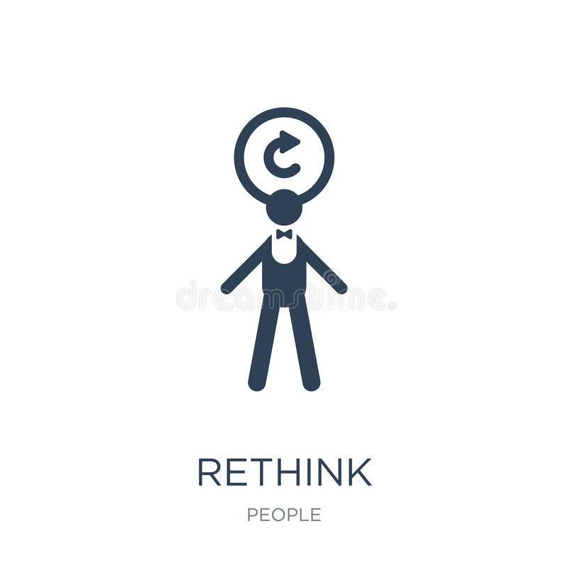 rethink icon in trendy design style. rethink icon isolated on white background. rethink vector icon simple and modern flat symbol stock illustration