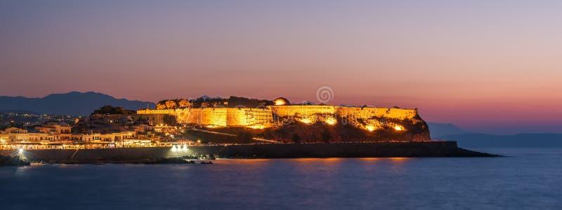 Rethymno, Крит, Греция: Fortezza в заходе солнца стоковая фотография