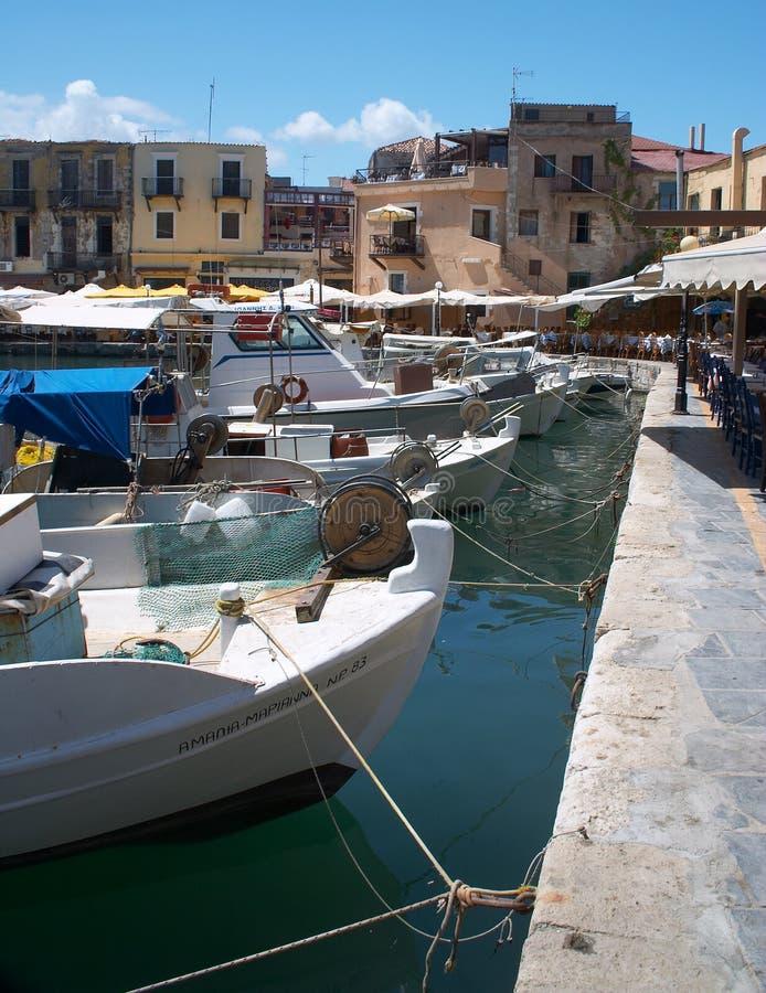 Download Rethymno alter Hafen stockfoto. Bild von kreta, hafen, kaianlagen - 30658