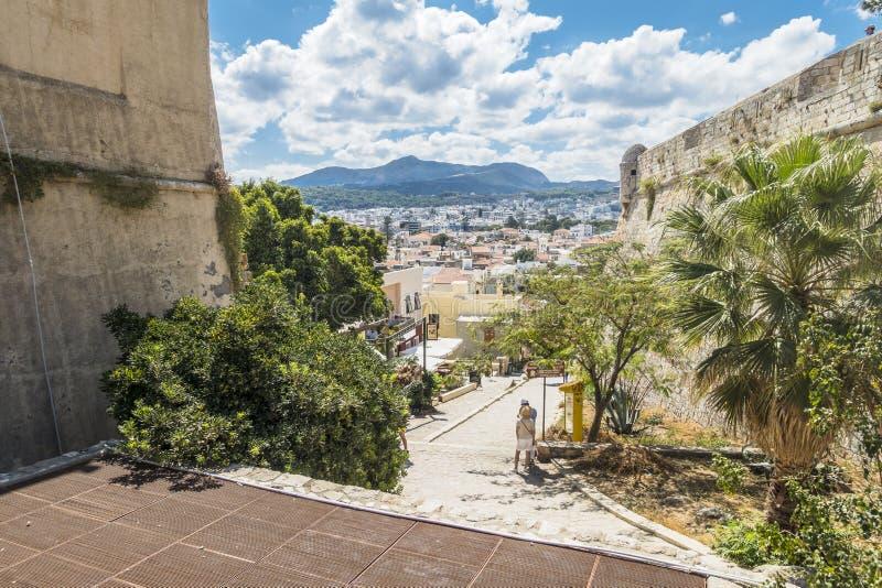 Rethymno forteca, Crete zdjęcia royalty free