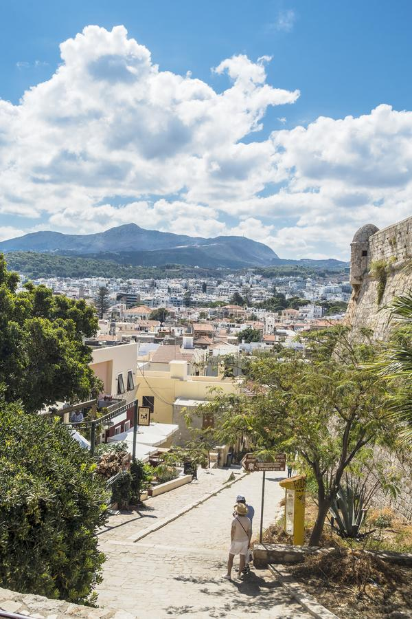 Rethymno forteca, Crete obraz royalty free