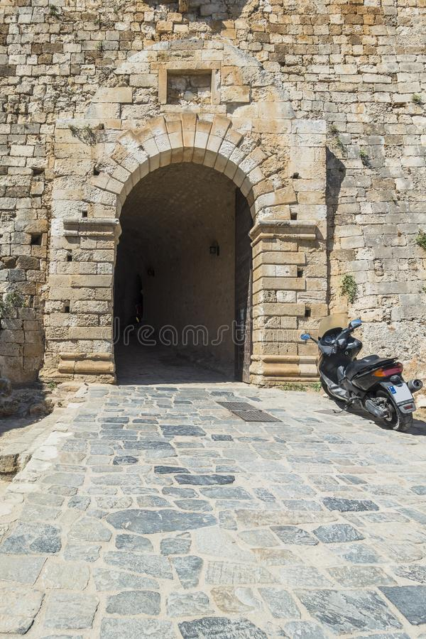 Rethymno forteca, Crete obraz stock