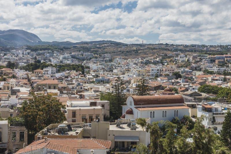 Rethymno forteca, Crete fotografia stock