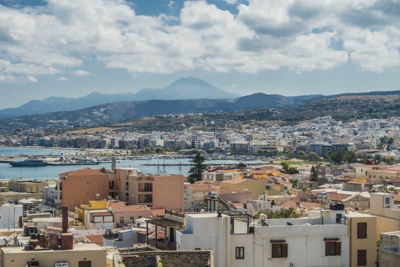 Rethymno forteca, Crete zdjęcia stock