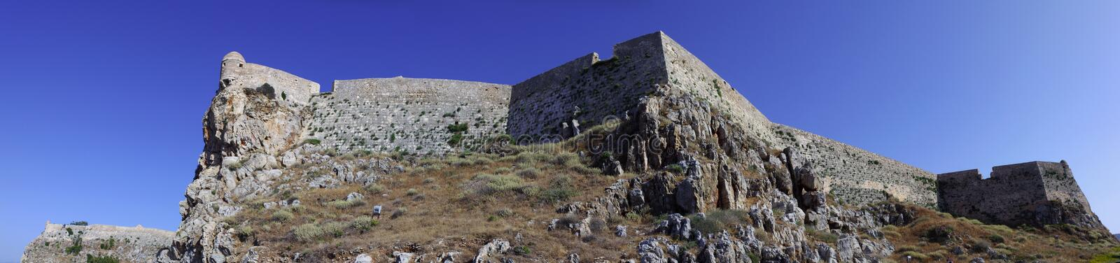 Rethymno Fortezza mure le panorama photographie stock libre de droits