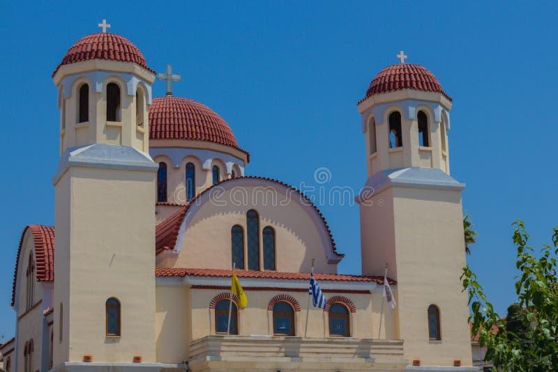 Rethymno, Grèce - 1er août 2016 : Église de quatre martyres photos libres de droits