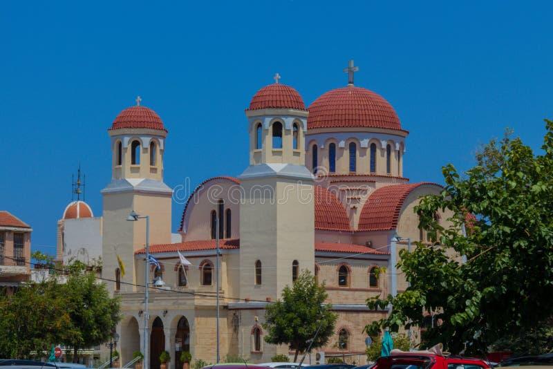 Rethymno, Grèce - 31 juillet 2016 : Église de quatre martyres photo libre de droits