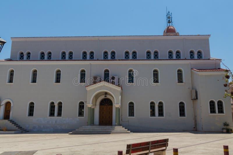 Rethymno, Grèce 28 juillet 2016 : Église métropolitaine photos libres de droits