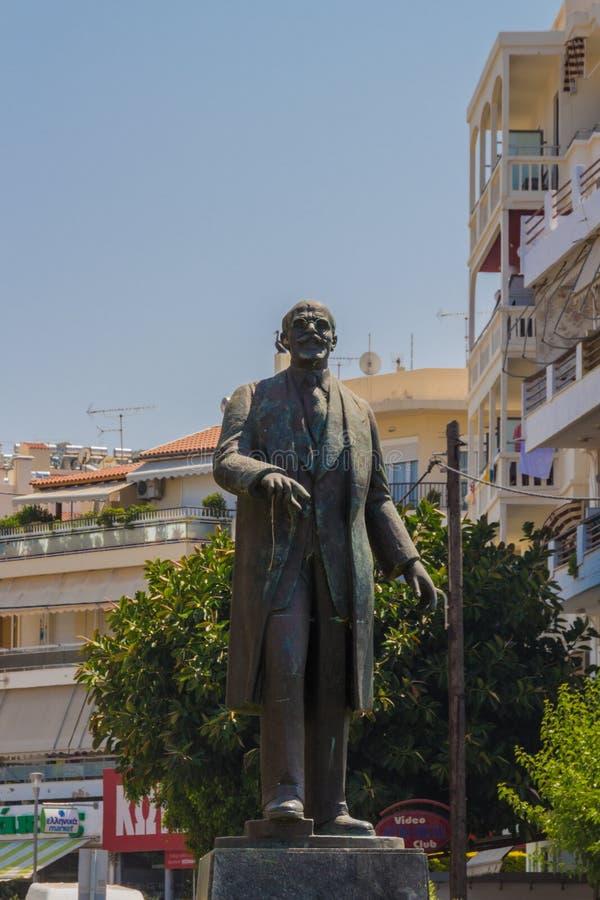 Rethymno, Grecia - 31 de julio de 2016: Escultura de Eleftherios Veni fotos de archivo libres de regalías