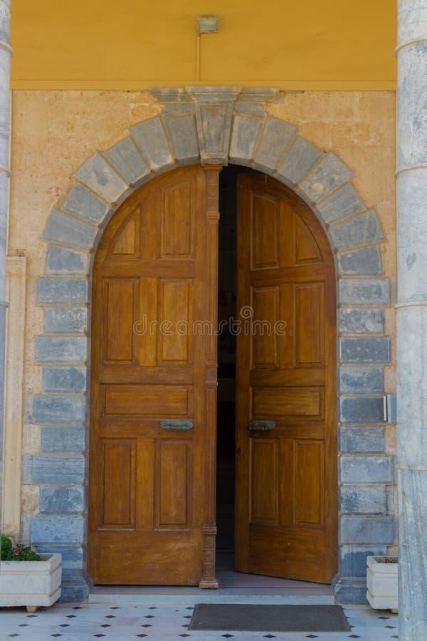 Rethymno Grecja, Sierpień, - 4, 2016: Wejście prefektura obrazy royalty free