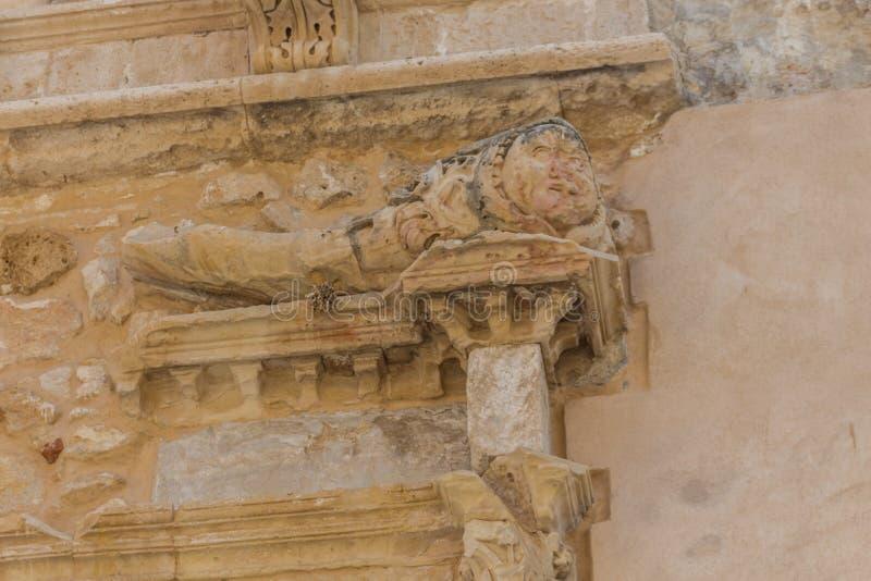 Rethymno, Greece - July 28, 2016: Ancient bas-relief. In Old City of Rethymno stock photos