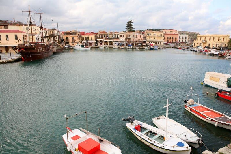 Rethymno Hafen stockbild