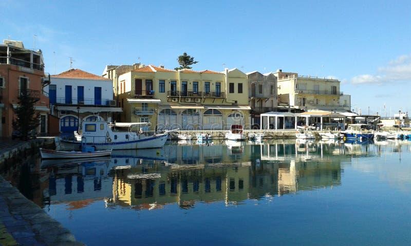 Rethymno-Hafen lizenzfreie stockfotos