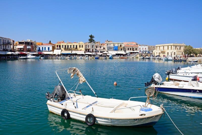 Rethymno-Hafen, Kreta lizenzfreie stockfotos