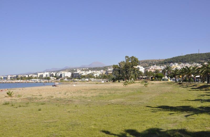 Rethymno, le 1er septembre : Vue de littoral de la ville de Rethymno de Crète en Grèce image stock