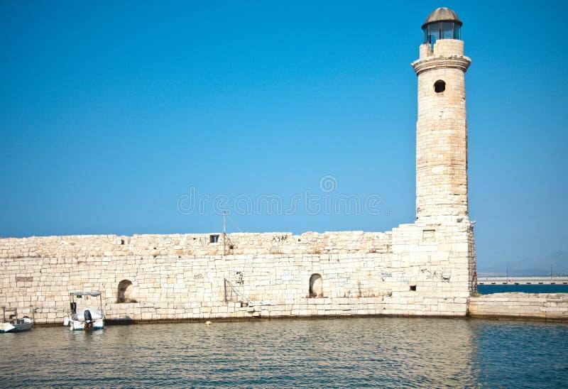 Rethymno lighthouse stock photography