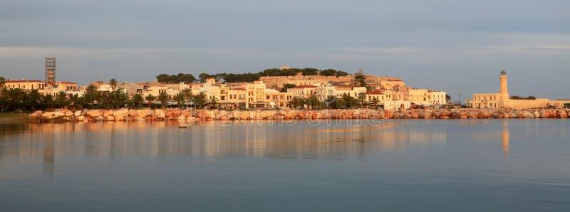 Rethymnon en el amanecer imagen de archivo libre de regalías