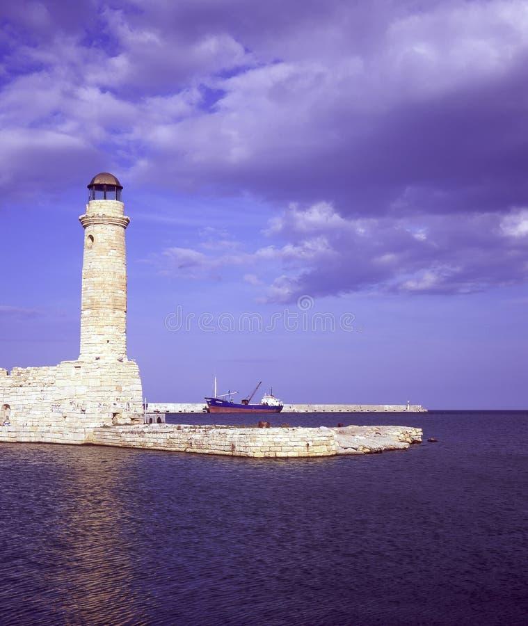 Rethymnon Lighthouse Stock Image