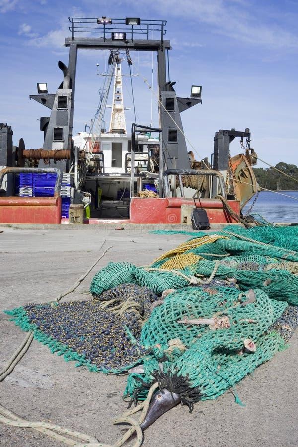 Reti da pesca di Strahan Tasmania fotografie stock libere da diritti