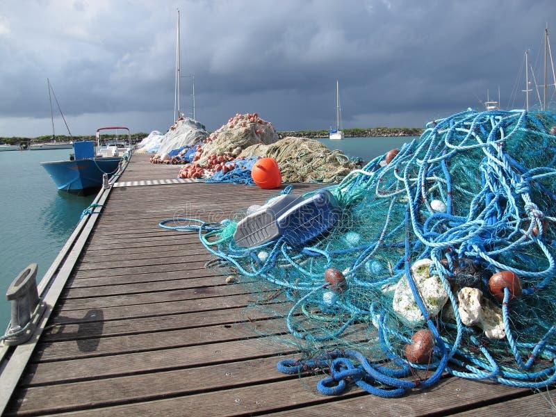 Reti del pescatore fotografia stock