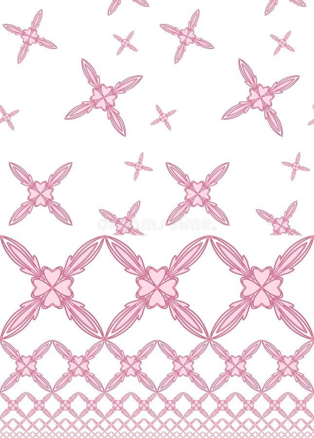 Reticoli del cuore del fiore di colore rosa di bambino fotografia stock libera da diritti