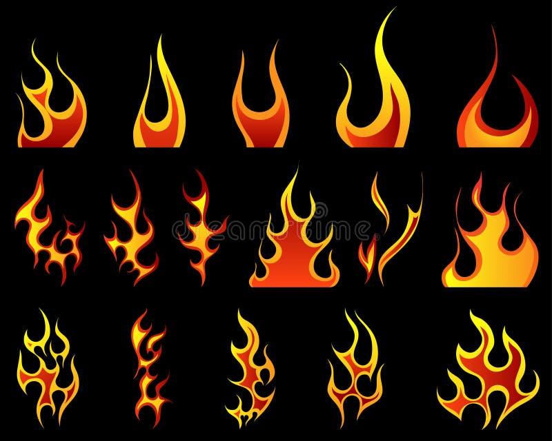 Reticoli del fuoco determinati illustrazione vettoriale