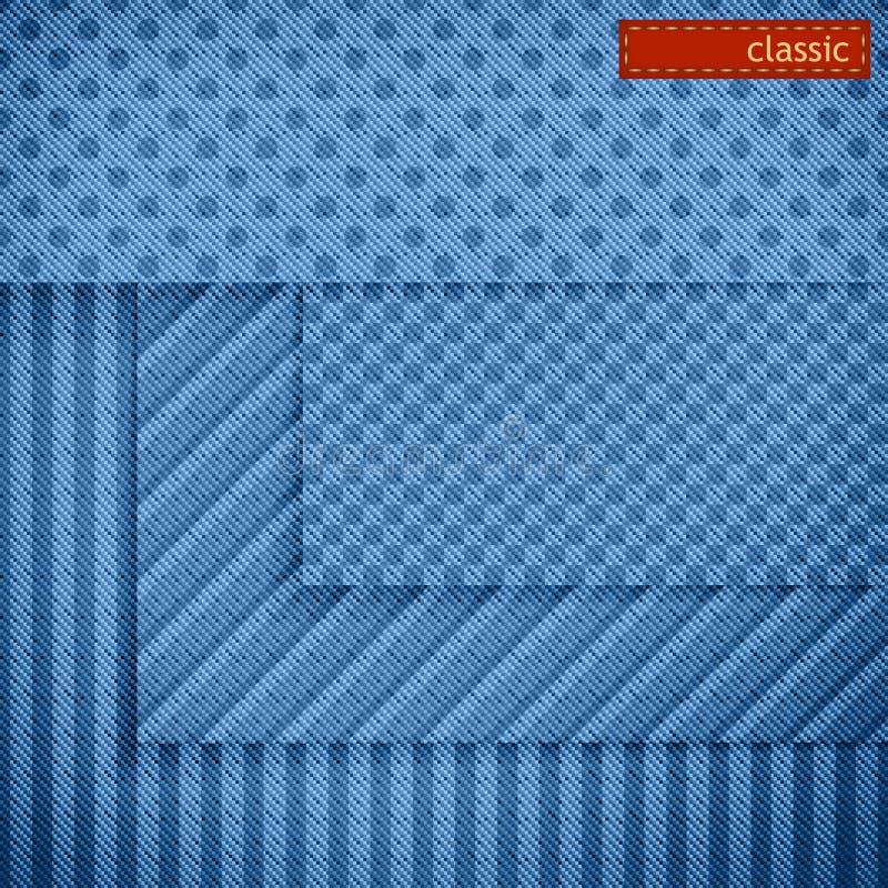 Reticoli del tessuto per il disegno della priorità bassa di Web site. Insieme royalty illustrazione gratis