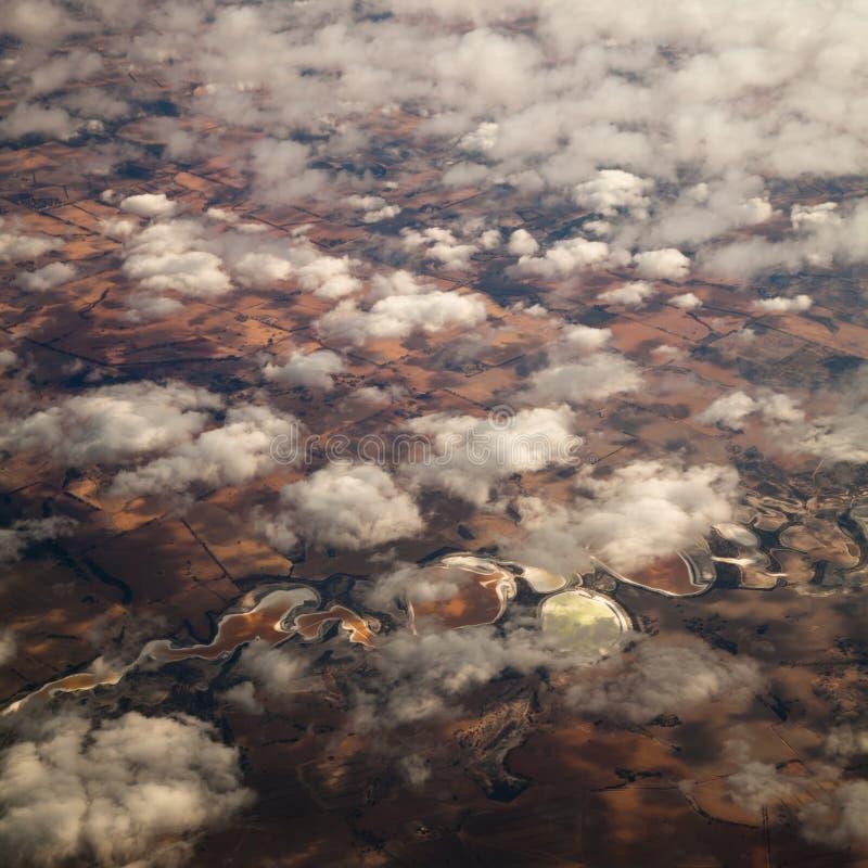 Reticoli della nube, del lago e del fiume immagini stock