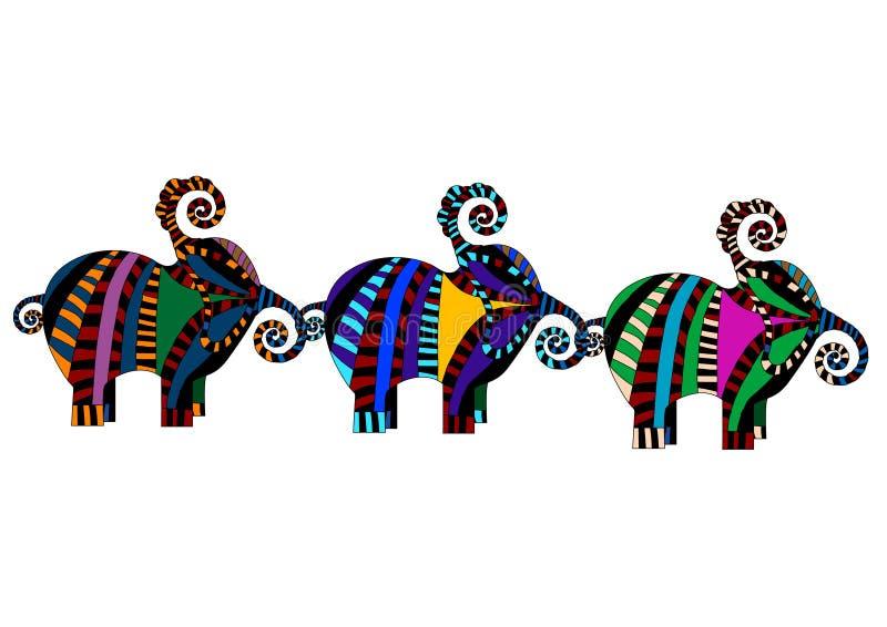 Reticoli etnici illustrazione vettoriale