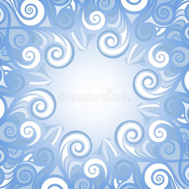 Reticoli gelidi sul vetro royalty illustrazione gratis