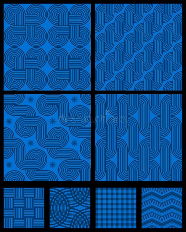 Reticoli geometrici astratti senza giunte illustrazione di stock