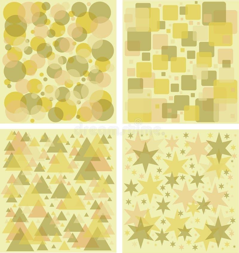 Reticoli geometrici senza giunte illustrazione vettoriale