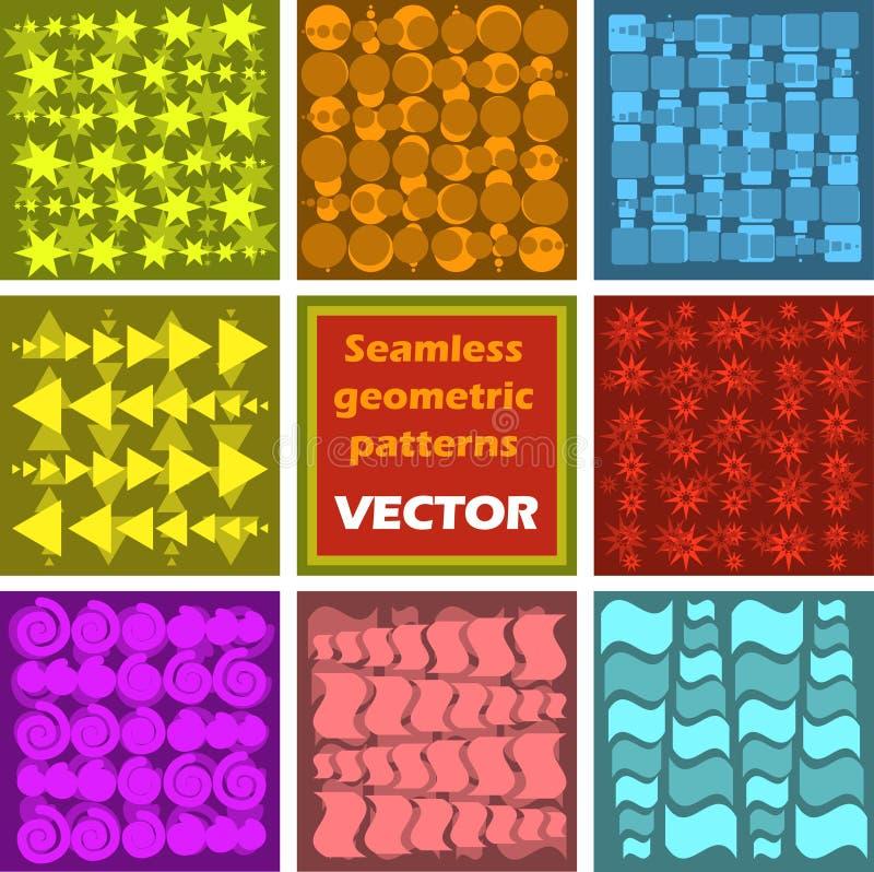 Reticoli geometrici senza giunte illustrazione di stock