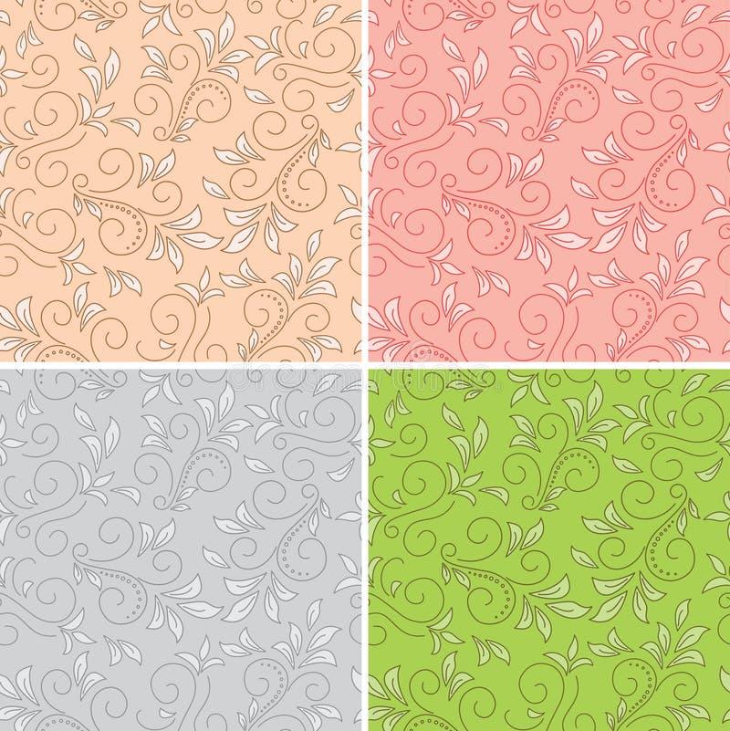 Reticoli senza giunte floreali - ambiti di provenienza colorati royalty illustrazione gratis