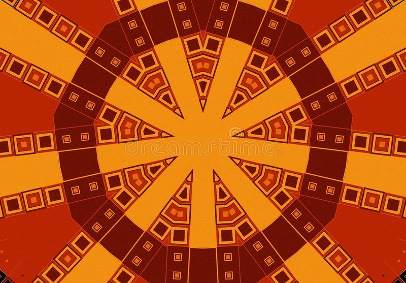 Reticoli tribali in oro del Brown illustrazione vettoriale