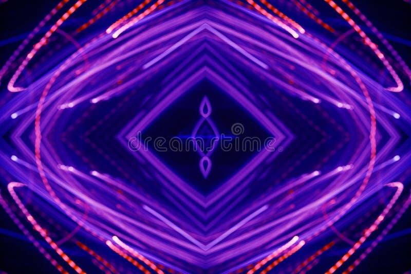 Reticolo al neon astratto fotografia stock