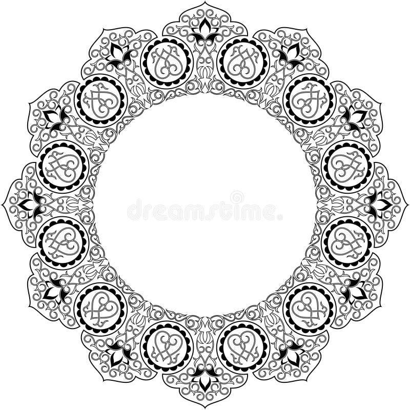Reticolo arabo del cerchio royalty illustrazione gratis