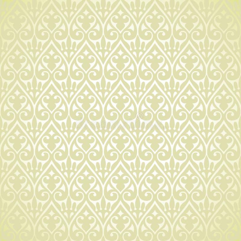 Reticolo arabo di motivo del fiore dell'annata di vettore retro illustrazione di stock