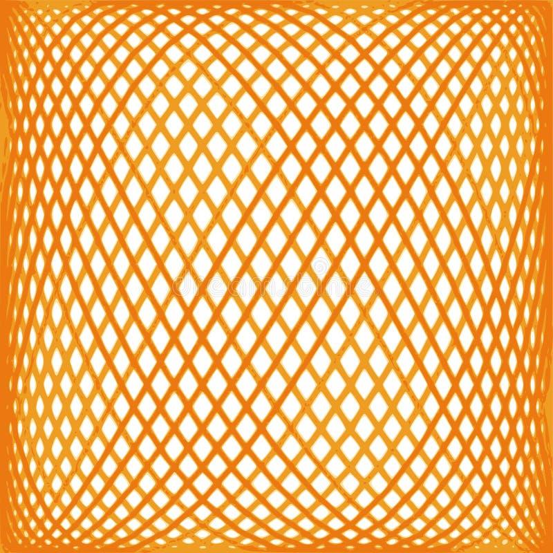Reticolo arancione della maglia illustrazione di stock